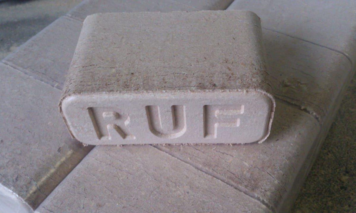RUF briquette production